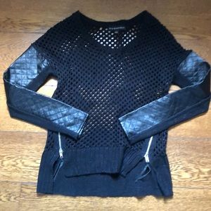 Rock and Republic Open Knit Zip Detail Sweater XS